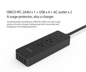 Image 2 - ORICO 2 AC Outlet Surge Protector with 4 USB Socket US Plug Mutiple Home Office Fast Charge Smart Power Strip Charger