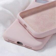 Oryginalny silikonowy futerał na iPhone X XR XS Max luksusowe cukierki kolor krzemu pokrywa dla iPhone 7 8 Plus 6 6 S Plus Funda Coque Capas