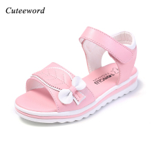 Girls sandals children shoes summer non-slip princess shoes soft thick bottom comfortable flat shoes for kids sandals white pink princess sweet gothic lolita shoes lolilloliyoyo antaina shoes custom thick bottom black bright skin skip on flat shoes 5207n