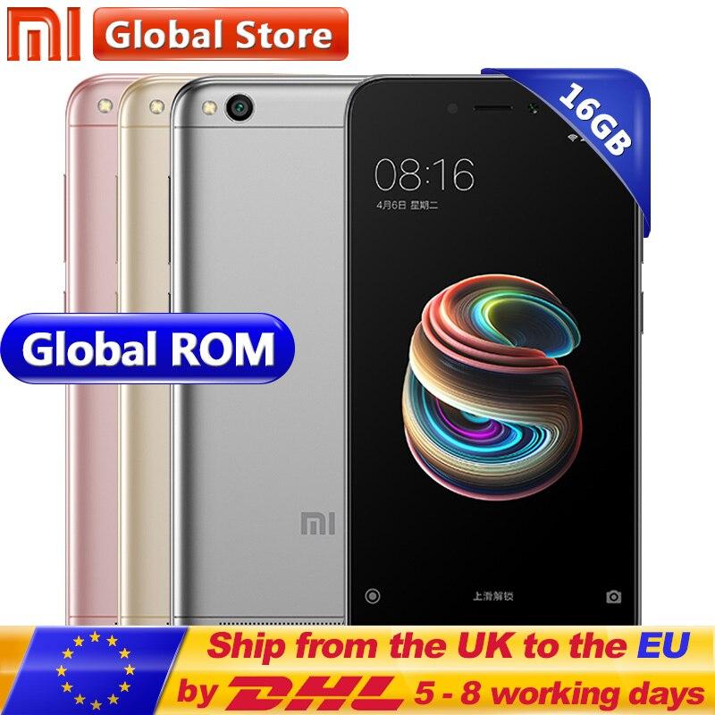 Original Xiaomi Redmi 5A 2 GB 16 GB ROM RAM Snapdragon S425 Quad Core teléfono móvil MIUI9 13,0 MP + 5.0MP 3000 mAh 5,0