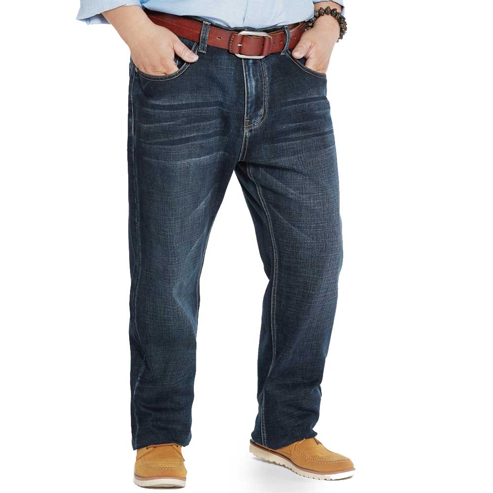 Men's Relaxed Straight-Fit Jeans Loose Comfort-Fit Five Pocket Denim Jean Pant Big Men Plus Size 40 42 44 46 48 fit 70167
