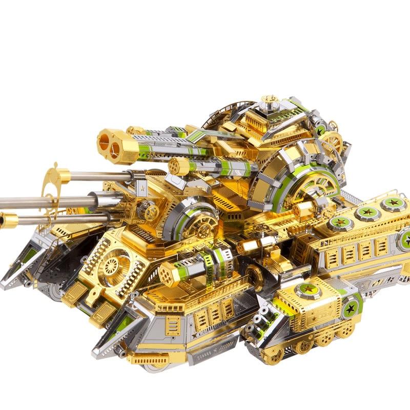 Piececool Skynet Spider Superheavy Tank DIY 3d Metal Nano Puzzle Assemble Model Kits P086-SGN Laser Cut Jigsaw Toys