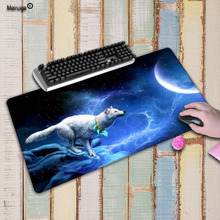 Mairuige Beautiful Wolf Under Moon Painting Custom Mouse Pad Non-slip Gaming Mousepad For PC Computer Desk Speed Mice Play Mat