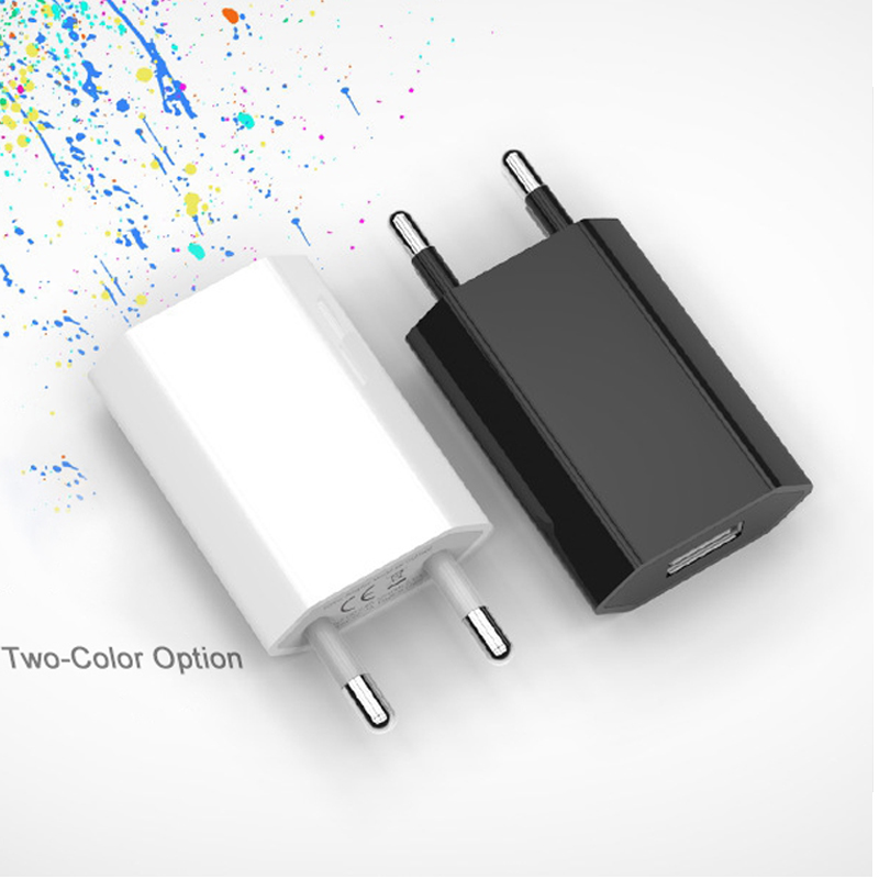 EU Plus Travel <font><b>Charger</b></font> Power Adapter <font><b>USB</b></font> <font><b>Charger</b></font> for iPhone Xiaomi Huawei Universal Phone <font><b>Wall</b></font> <font><b>Charger</b></font> 5A Charging Head No Cable image