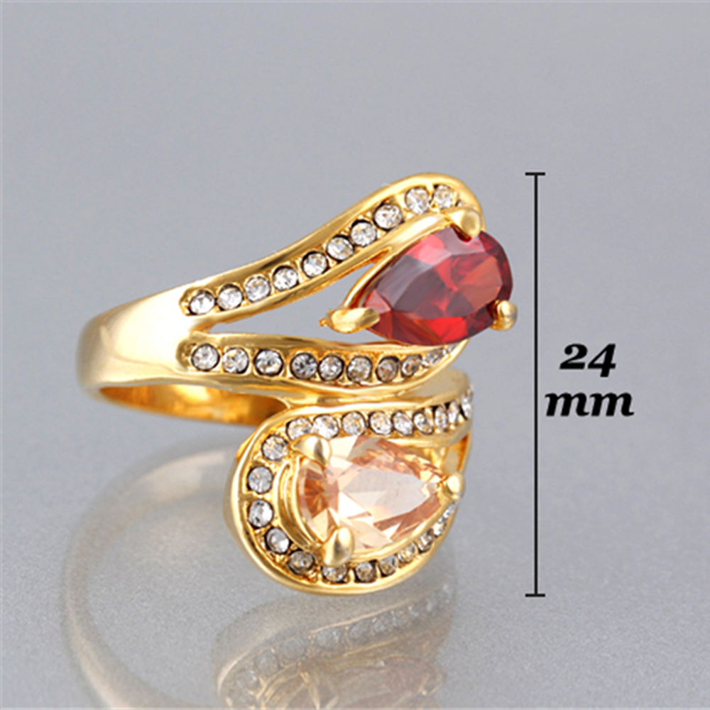 retro engagement women rings finger plated ring silver jewellery crystal big for look kinel austrian jewelry vintage product