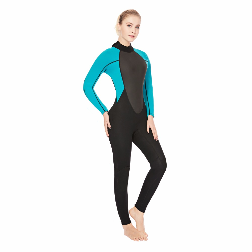 3MM 2MM Neoprene Wetsuit Women s Scuba Diving Suits Long Sleeves One piece Fullbody Swimming Suit
