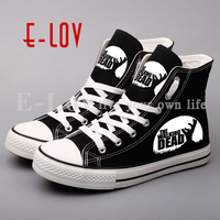 New Fashion Women S 3D Canvas Shoes Printed The Walking Dead Hip Hop Street Style Zombies