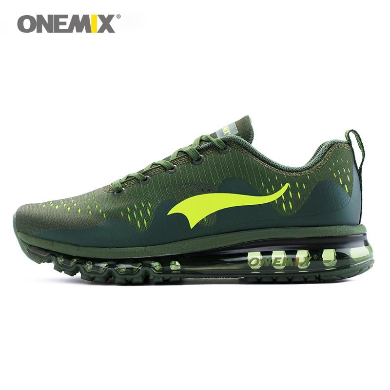 ONEMIX uomini scarpe da corsa fresco scarpe da tennis di sport di smorzamento cuscino traspirante maglia maglia vamp scarpe outdoor a piedi scarpe da jogging