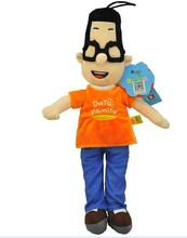 small size plush cute small head father toy cartoon small head dady gift doll about 43cm