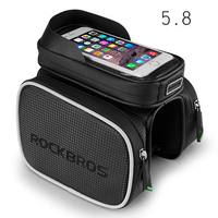 ROCKBROS Bike Bicycle Frame Front Head Top Tube Bag Double IPouch Cycling Pannier For 4 2