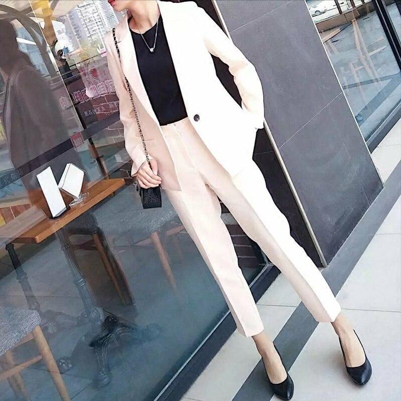 Giacca Casual 1 Colore 2 Dei Nuovo Marea Coreano Pantaloni Selvatici Monopetto 3 Solido Femminile Di Vestito UXUqYS