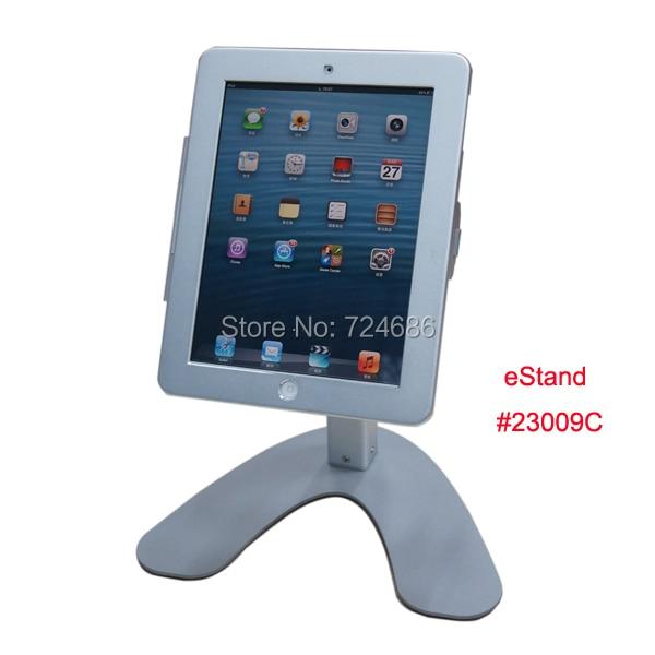 Para el ipad 2/3/4/aire llave de cierre de seguridad de pie con marco de metal de escritorio en feria