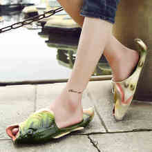 2017 New Fashion Summer shoes women sandals slippers Sandals Rubber Beach Breathable personality strange Fish type shoes