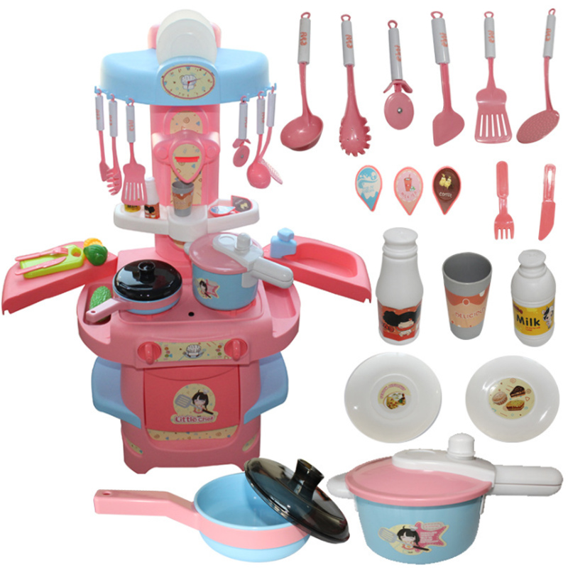 20 Pcs/Set Height 82cm Kitchen Plastic Pretend Play Food Children Toy With Music And Light Smog Simulation Tableware Cooking D9920 Pcs/Set Height 82cm Kitchen Plastic Pretend Play Food Children Toy With Music And Light Smog Simulation Tableware Cooking D99
