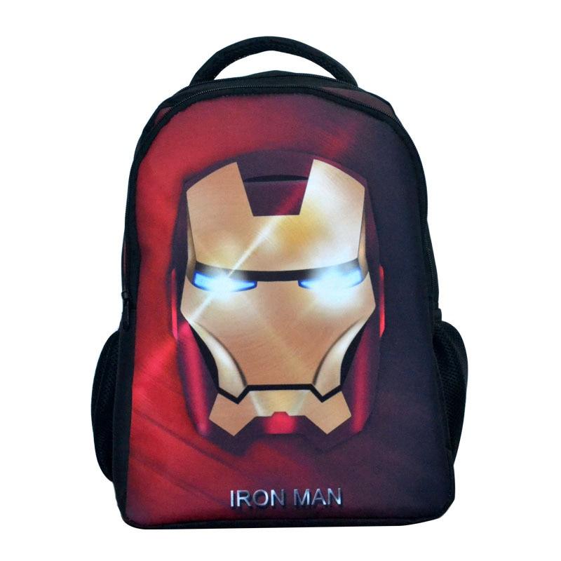 Clever 16-zoll-rucksack Kinder Taschen 3d Kinder Schultaschen Iron Man Cartoon Rucksack Mochila Infantile Kindergarten Kinder Tasche