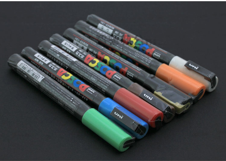 UNI POSCA PC-3m markers set 0.9-1.3mm,17 colors/set good quality best selling uni posca pc 5m markers set 1 8 2 5mm 17 colors set