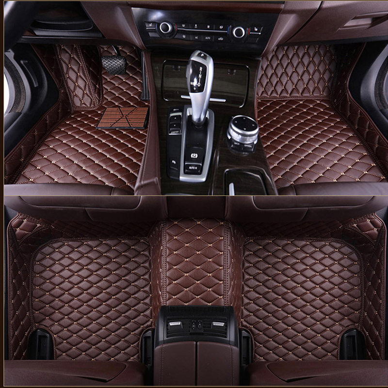 5 Seats orealauto Car Floor Liners Mats for Lexus RX350 2016 2017 2018 2019 Vehicle Front and Rear Heavy Duty Rubber Black Red Edge Carpet Set Custom Fit-All Weather Guard Odorless