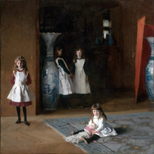 scenery canvas painting mural prints home decor poster giant picture John Singer Sargent The Daughters of Edward Darley Boit hirshler great expectations john singer sargent painting children