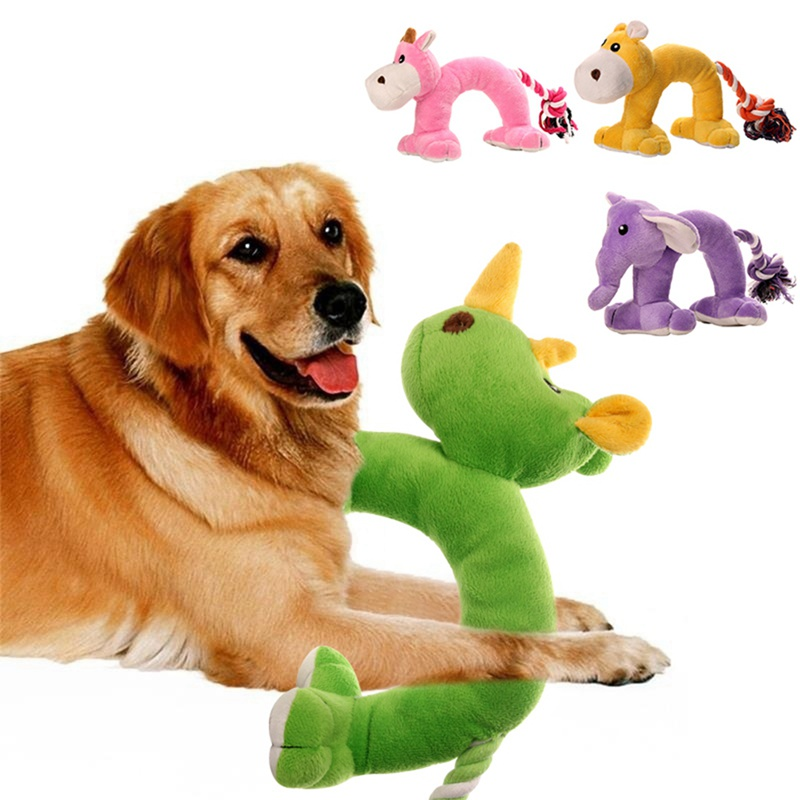 1PC Cute Dog Chew Toys For Small Large Dogs Bite Resistant Squeaky Duck Interactive Squeak Puppy Toy Pets Supplies