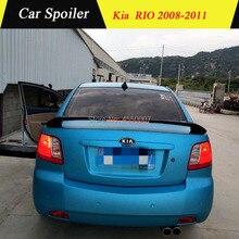 Используется для Kia RIO спойлер 2008-2011 RIO спойлер с светильник высокого качества ABS Материал заднее крыло автомобиля праймер цвет задний спойлер