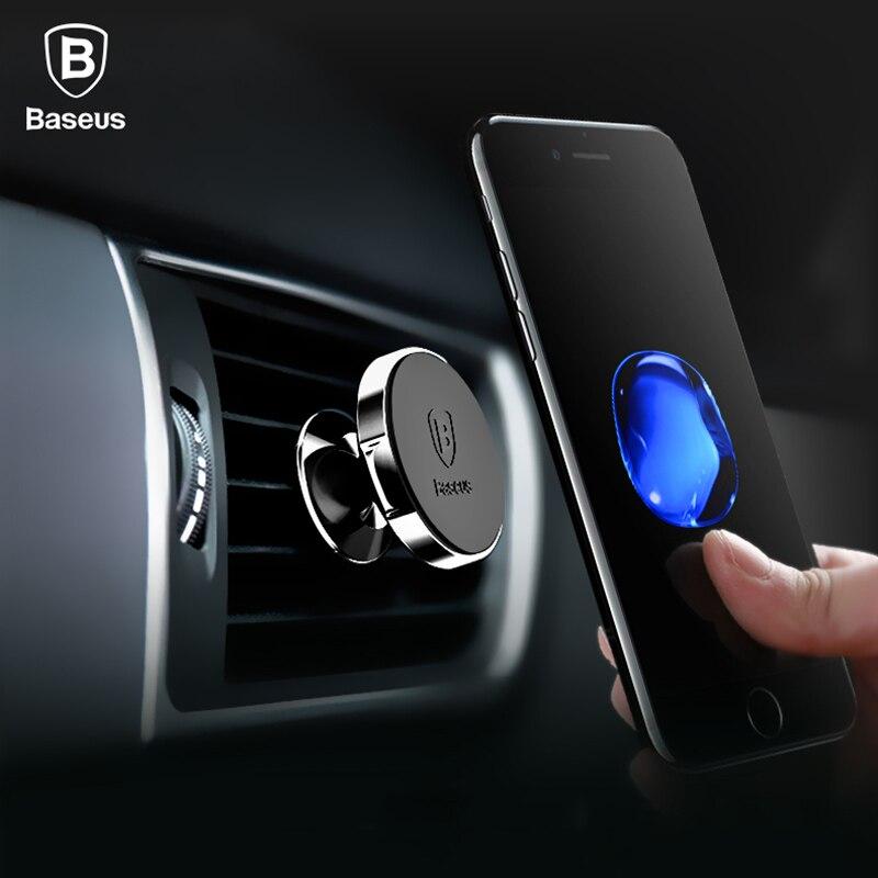 Baseus Magnetic Autohalterung Für iPhone X 8 Samsung S9 S8 360 grad Lüftungsschacht Mount Handyhalter Soporte Movil Auto Telefon halter