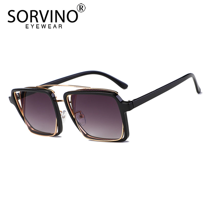 380edd41ccaa4 SORVINO Retro Oversized Reversible Square 2019 Sunglasses Women Men Designer  Luxury Brand Pink Yellow Sun Glasses Shades SP264