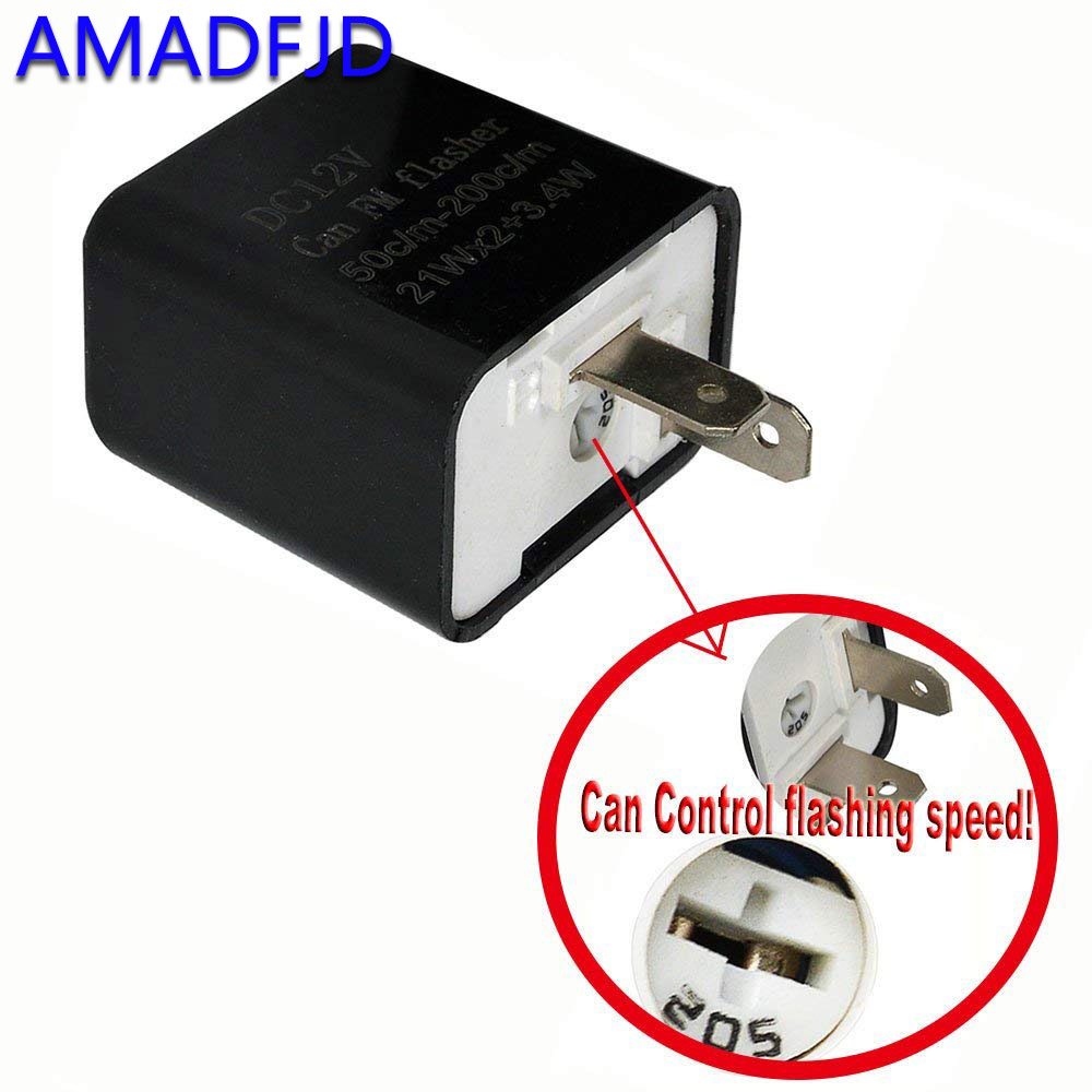 US $1 49 20% OFF 12V 2 Pin Motorcycle Turn Signal Beeper Motorbike Flasher  Relay racimg Turn Signal Indicator Adjustable frequency LED flasher -in
