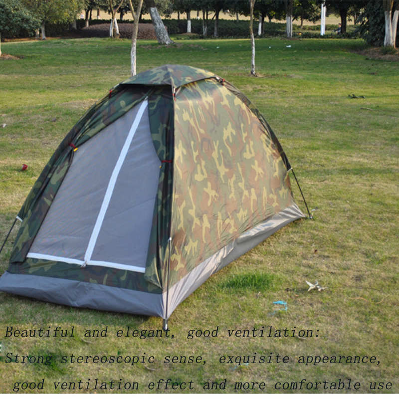 Image 2 - 1 4 Person Portable Outdoor Camping Camouflage Tent Outdoor Camping Recreation Double Couple Camping Tent Ultraviolet proof Tent-in Tents from Sports & Entertainment