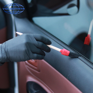 Image 5 - Car Cleaning Kit with 5pcs Detail Brush and 1pcs Microfiber Towel for Leather Air Vents Emblems Rims Wheel Detailing Auto