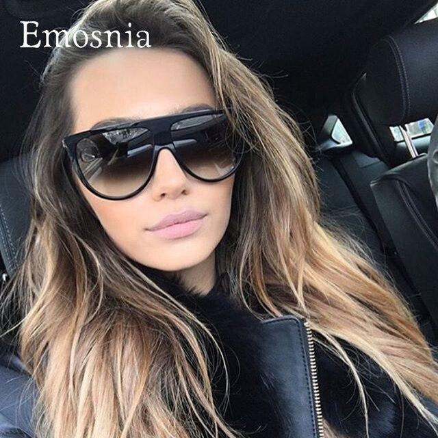 8aa37aeac Emosnia Retro Do Vintage Óculos De Sol Das Mulheres Designer de Marca De  Grandes Dimensões Moda
