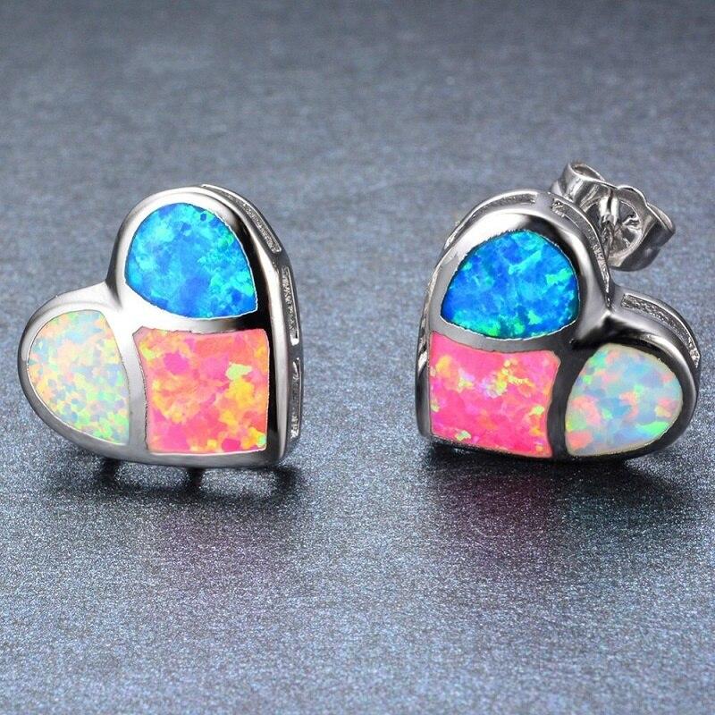 Cute Sweet Lovely Style Stud Earrings Men Fashion Indian Women Irregular Love Heart Hook Geometric Engagement Earrings F5C230