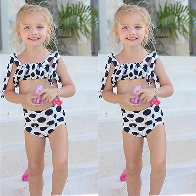Toddler Baby Kid Girl Bikini Set Swimwear Swimsuit Bathing Suit Swimming Clothes