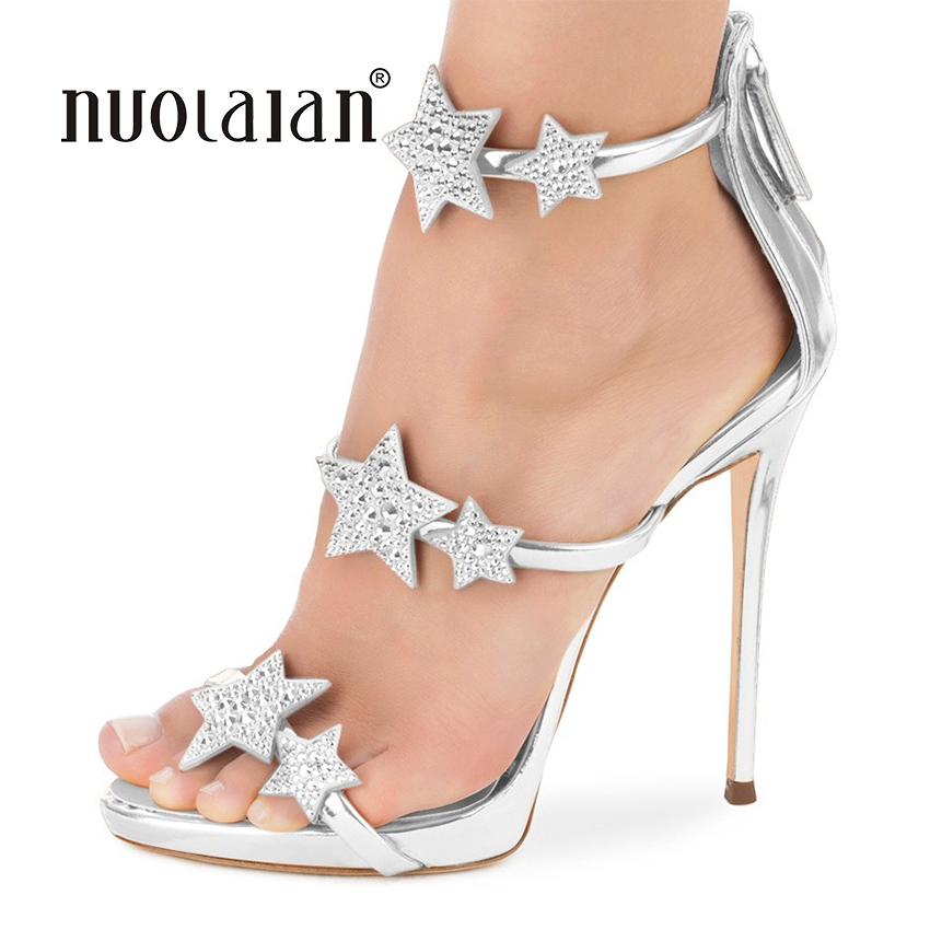 2018 NEW fashion women pumps crystal high heel pumps shoes for women sexy peep toe high heels sandals party wedding shoes woman цены онлайн