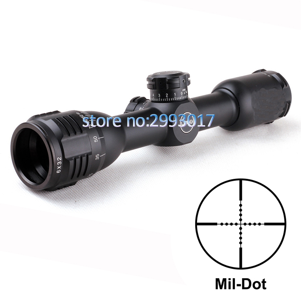 6x32 AO Mil-Dot Glass Etched Reticle Compact Lock Tactical Optical Sight Rifle Scope For Hunting Riflescope bestlead 46 non slip handle 4 6 zirconia ceramics peeler set orange white