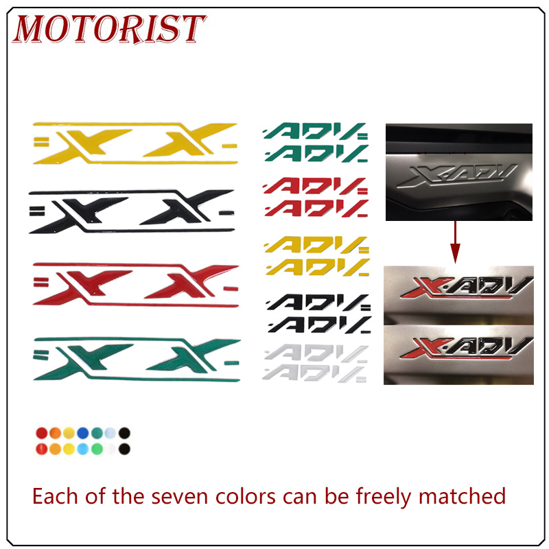 Suitable For HONDA XADV X-ADV 750 Xadv 750 X-adv 3M Reflective Logo Side Panel Sticker Color Logo Applique Motorcycle Sticker