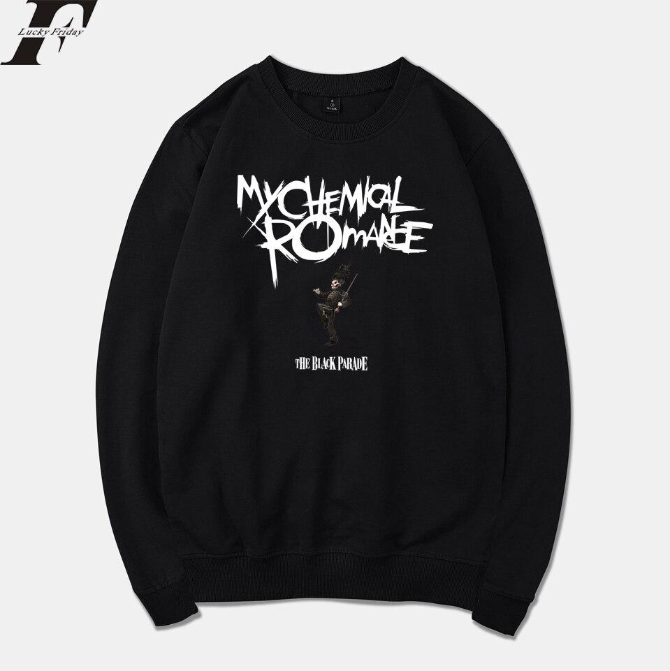 LUCKYFRIDAYF 2018 My Chemical Romance Group Spring Warm Punk Sweatshirt Men/Women Tracksuit Hip Hop Men Clothes Plus Size 4XL