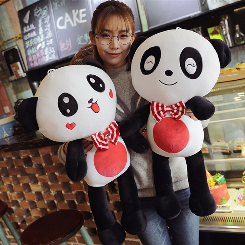 Fancytrader Cute Panda Plush Doll 110cm Big Stuffed Lovely Emoji Animals Toys for Children Gifts stuffed animal toy store panda plush panda kids toys cute football panda doll baby gifts