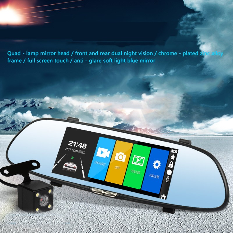 ENKLOV 7 Inch IPS Touch Screen Dash Cam Full HD Night Vision 1080P Car Dvr 170 Wide Angle Dashcam Front & Rear CameraENKLOV 7 Inch IPS Touch Screen Dash Cam Full HD Night Vision 1080P Car Dvr 170 Wide Angle Dashcam Front & Rear Camera