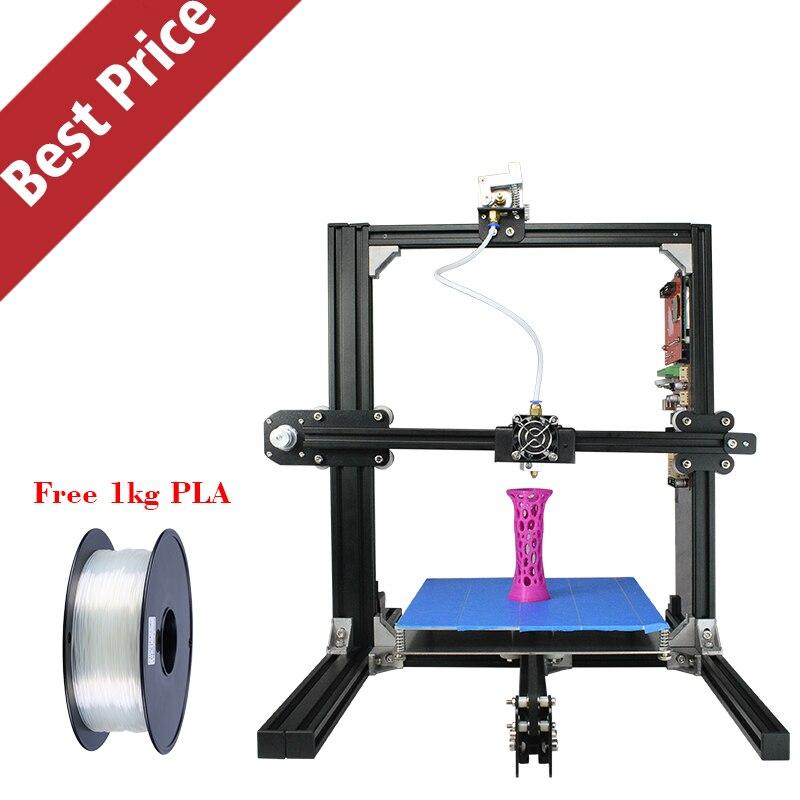 Новое поступление низкая цена RepRap Prusa i3 Стабильный металлический Рамки Высокая точность 3D-принтеры DIY Kit с ЖК-дисплей или touch подарок нити