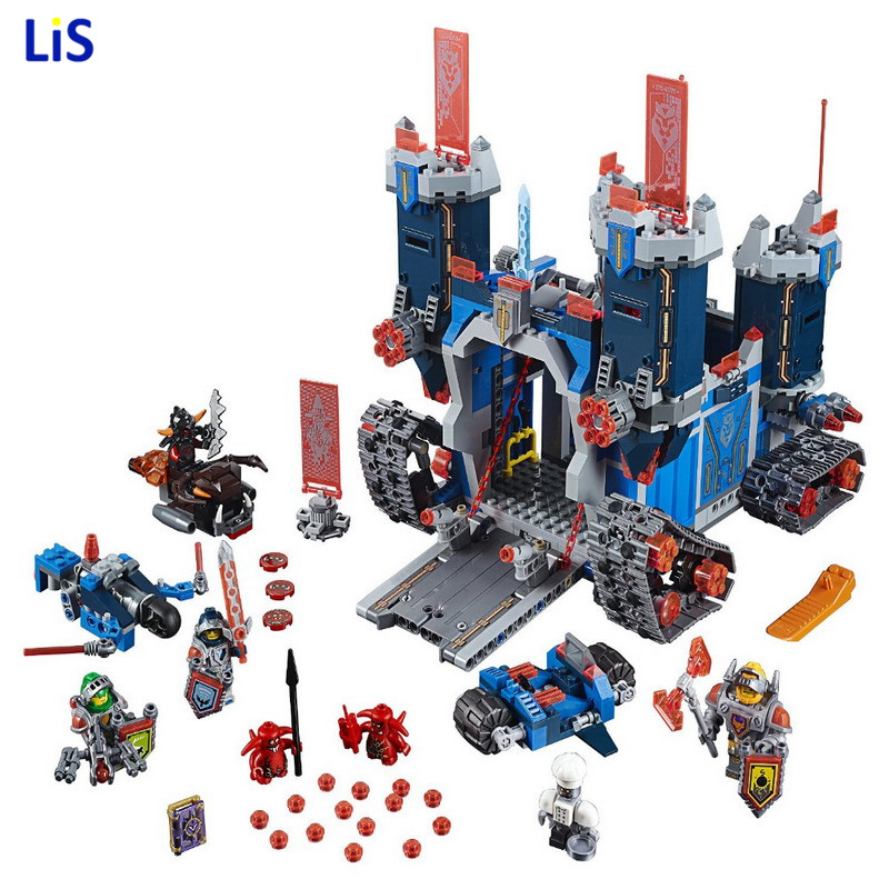 Compatible With Legoing NEXO KNIGHTS 70317 14006 Building Blocks THE FORTREX Castle Model Bricks Set Kids Educational Toys