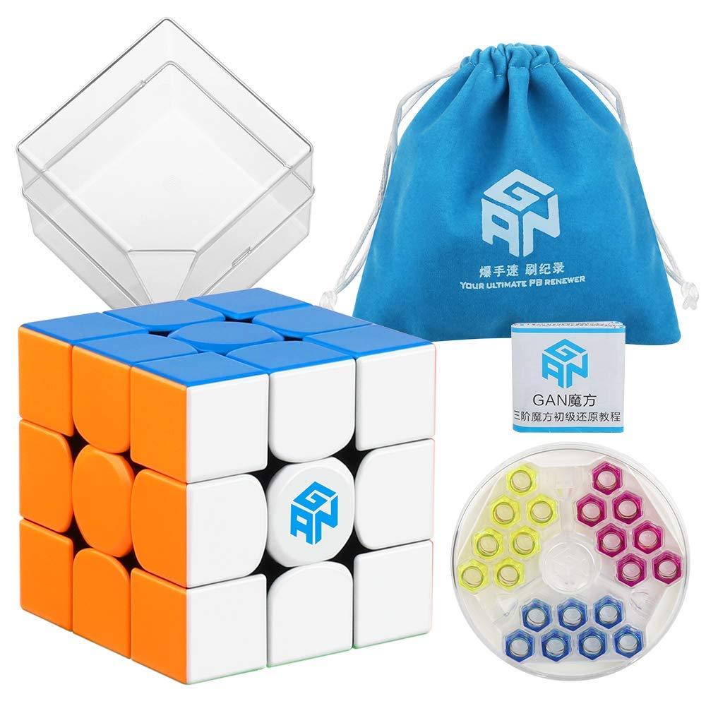 D-fantix Gans 354 M Cube de vitesse sans autocollant 3x3 Gan354 Cube de Puzzle magnétique