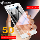ESVNE 5D Curved Edge Tempered Glass for iphone 6 7 8 glass 6s Plus Full Cover pelicula de glass iPhone 7 Screen Protector Film