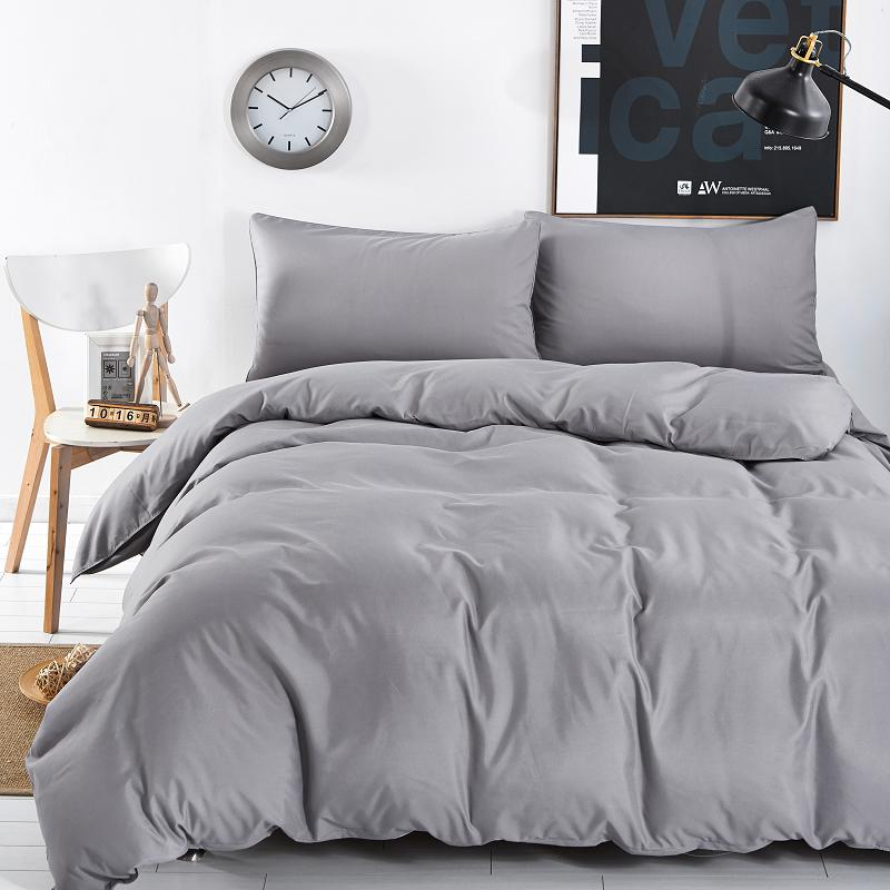 60 Solid Color Design, 3/4 Bedding Sets Of Mattresses Bedspread Sets / Flat / Pillowcase Full/Queen/King/Super King Siz