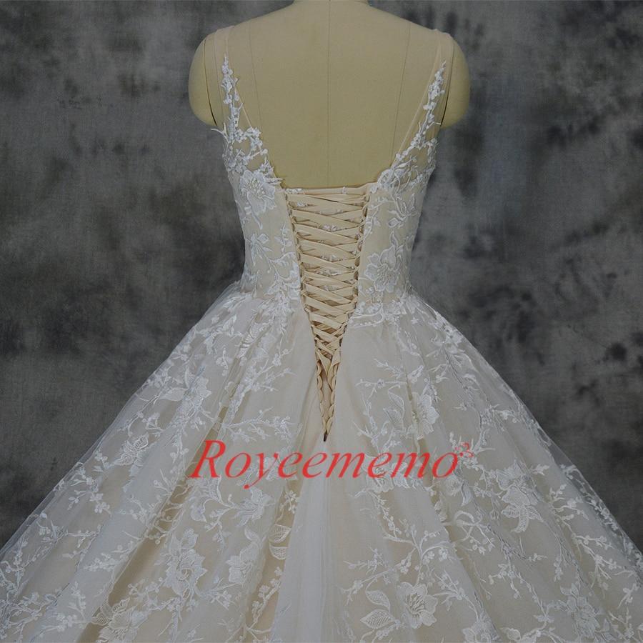 Vestido de Noiva nieuwe kant baljurk trouwjurk luxe champagne en - Trouwjurken - Foto 6