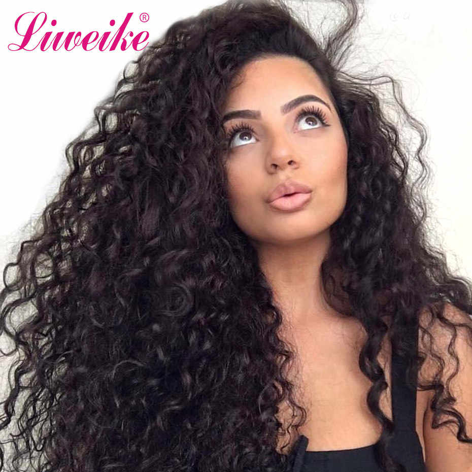 Italian Curly Human Hair Wigs With Baby Hair Bleached Knots Brazilian Remy 13*4 Lace Frontal Wigs Pre-Plucked 150% 200% Density