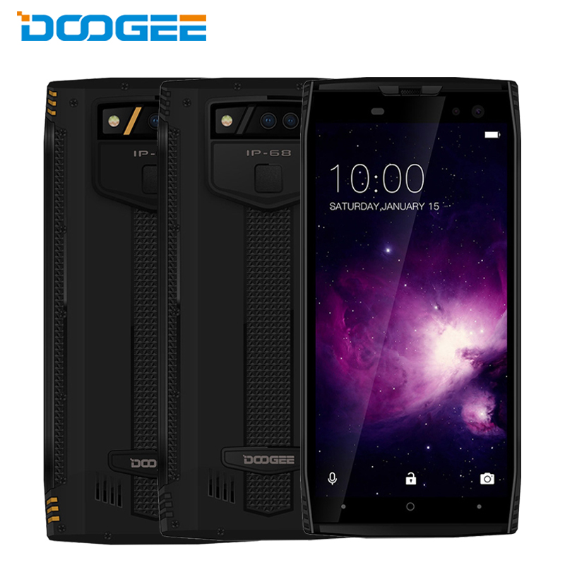 """Оригинал DOOGEE S50 IP68 Водонепроницаемый сотовый телефон 5.7 """"6 ГБ Оперативная память 128 ГБ Встроенная память MTK helio P23 Octa core quad камеры 5180 мАч смартфо…"""