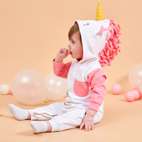 2019 Spring New Explosion INS Animal Styling Baby Girl Clothes Baby Jumpsuit BABY Unicorn Rompers Pink Romper Baby Onesie