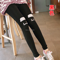 Women Fashion Velvet Thin Slim Leggins Cartoon Cute Mustache 4 Colors Legging Cheap Lady Fitness Leggings
