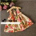 [Bosudhsou.] # K-29 Kids niños ropa de bebé ropa de verano vestidos de las muchachas muchacha del estilo del verano vestido de algodón estampado floral vestido de tirantes