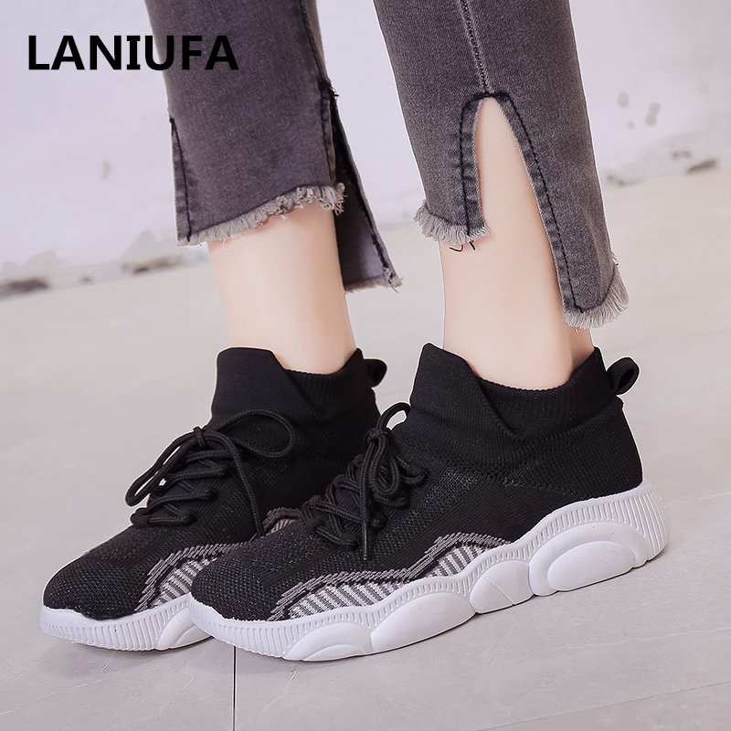 new flats ladies sneakers ladies Spherical Toe Informal Lace Up Breathable Mesh out of doors out of doors sneakers ladies Informal sneakers mujer zapatos #864 Ladies's Flats, Low-cost Ladies's...